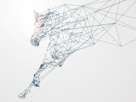 ネットワーク接続に駆ける馬と化したコンセプト イメージ