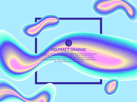 Abstract graphic design, vector illustration. Illustration