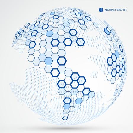 A lattice like Earth graphic design; the concept of internationalization.