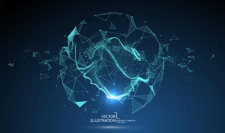 Futuristische Globalisierungsschnittstelle, ein Gespür für Wissenschaft und abstrakte Technologien für die Technologie.