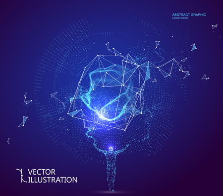 Des lignes connectées à la scène de science-fiction, symbolisant la signification de l'intelligence artificielle.
