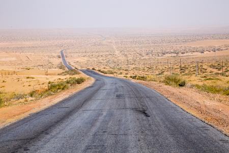 砂漠の駐機場。 写真素材