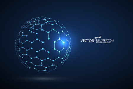 Molecular structure composed of spheres Vectores