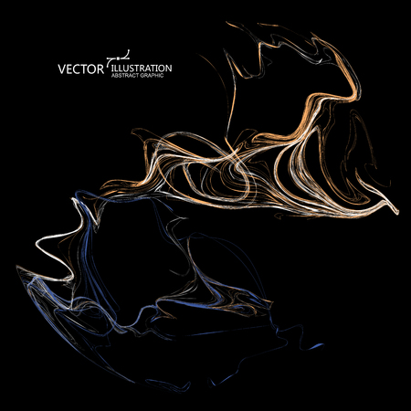 Oily abstract graphic, vector background.