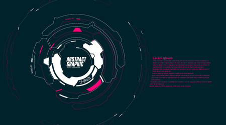 Abstract looped graphic, futuristic sense of technology, vector background.