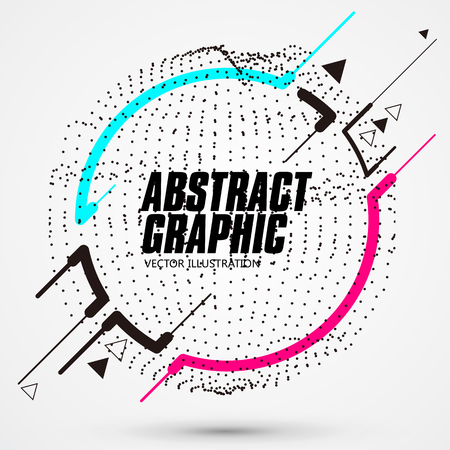 Circle shaped abstract graphic, banner advertising background.