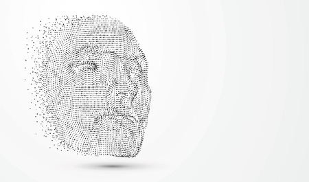 A virtual face,vector illustration.