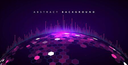 Matrix of countless blocks, big data,globalization concept, quantum computer concept,cloud computing.