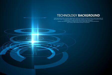 Three-dimensional interface technology. Technology sense background.