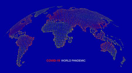 Coronavirus is spreading around the world, vector illustration.