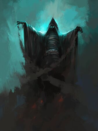Grim reaper digital painting.