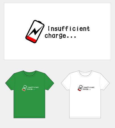Low power, T-shirt graphic design.