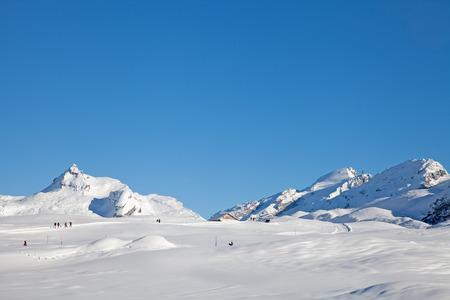 Winter walking in the Swiss Alps