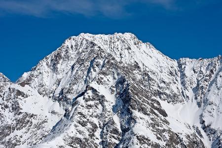 Austrian mountain close view