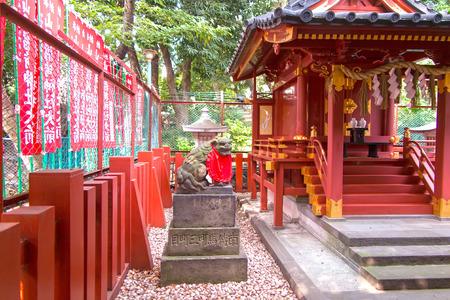 Japanese shrine interior
