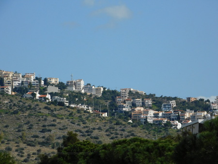View of the town of Ano or Upper Voula in Attica, Greece