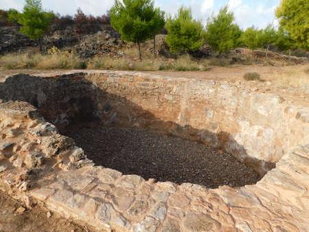 Ancient Greek silver mine, workshop facilities, at Lavrio, Attica, Greece