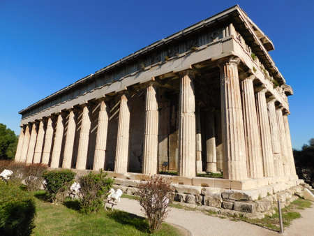 The Temple of Hephaestus or Hephaisteion, in the Ancient Agora, or marketplace, in Athens, Greece