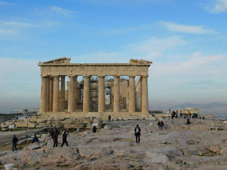 February 2020, Athens, Greece. View of the Parthenon, the ancient temple of goddess Athena, in Athens, Greece Editorial