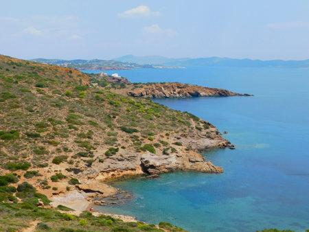 Panoramic view of the Attica coast, from cape Sounio