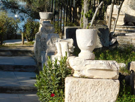 April 2018, Eleusis or Elefsina, Greece. The entrance to the archaeological museum