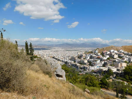 September 2019, Athens, Greece. View of the city, and modern buildings