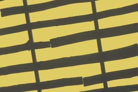 lath in modern: Abstract background, board texture bottom view of the sky, gray yellow effect Stock Photo