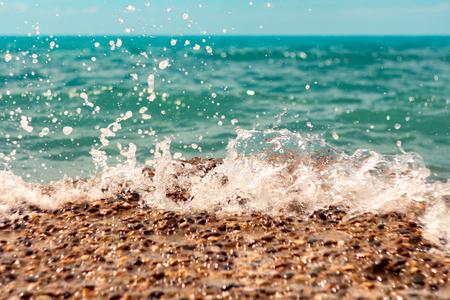 gush: Blue sea waves Stock Photo