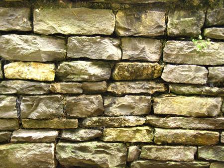 calcareous: Stone wall Stock Photo