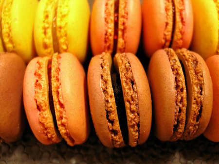 Colored macarons photo