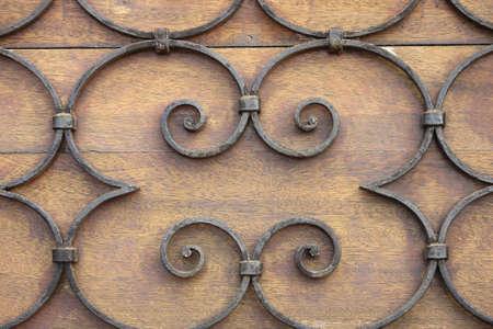 grating: Grating on a wodden door