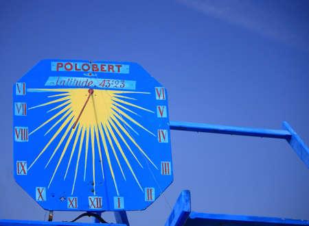 sun dial: Sun dial Stock Photo