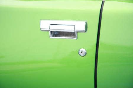 Door of vintage car called shark