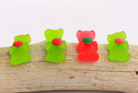 nack: Colored bears Stock Photo
