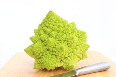 greenness: Romanesco broccoli and knife
