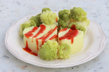 romanesco: Romanesco and mashed potatoes