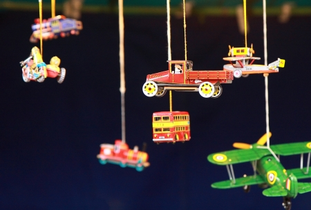 tinplate: Vintage toys Stock Photo