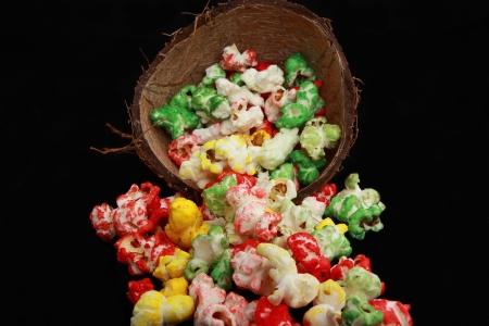nack: Handful of popcorns Stock Photo