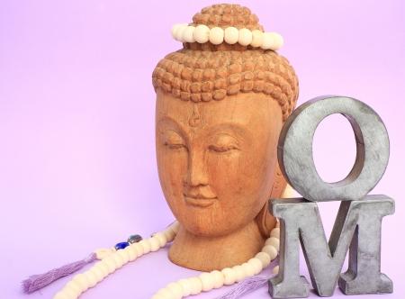 Om and buddha Banco de Imagens