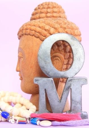 OM with buddha Banco de Imagens