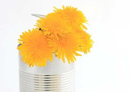 Can with flowers
