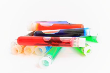 test tubes: Pile of test tubes Stock Photo