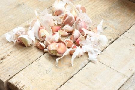 garlics: Group of garlics Stock Photo