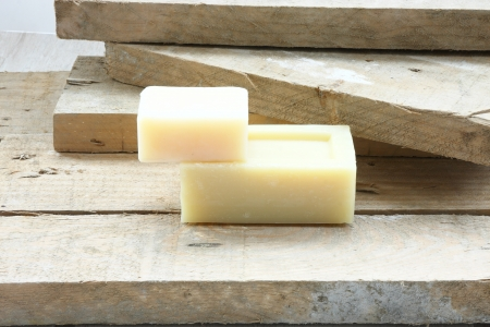 Soap over wood photo