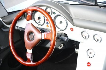 speedster: Speedster steering wheel Stock Photo