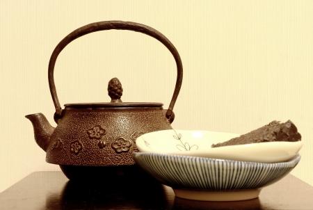 teacake: Japanese teapot Stock Photo