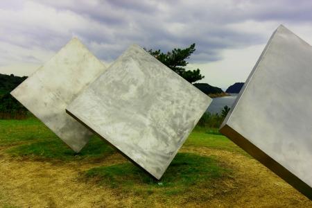 Metallic sculpture Stock Photo
