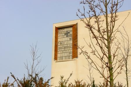moders: Iesu church-San Sebastian Stock Photo