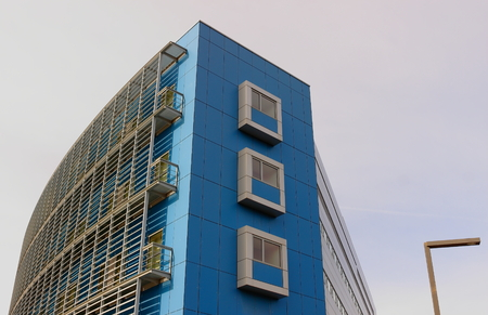 edifice: Blue edifice - San Sebastian