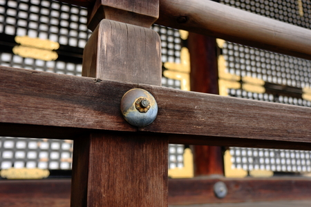 ornamentations: Wooden fence on temple